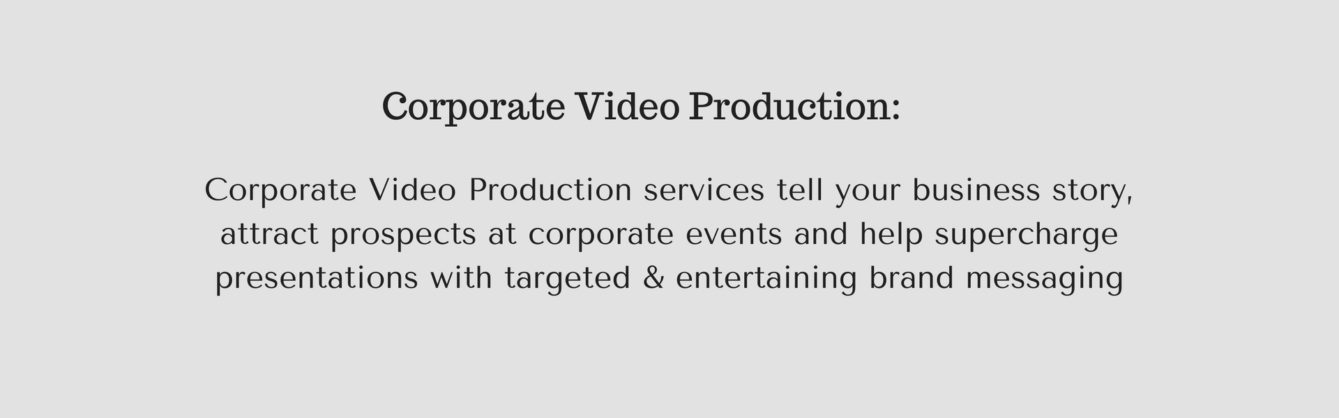 Corp video text