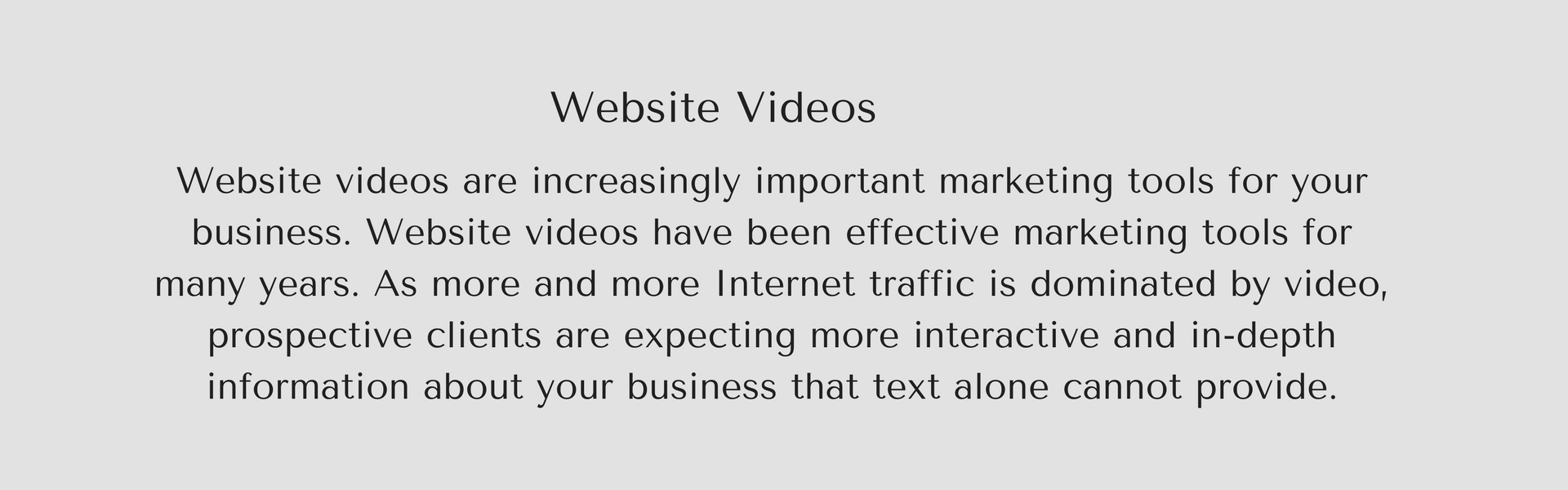 WEbsite video text