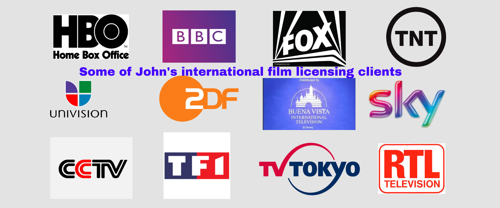 Some of John's international film licensing clients (2)